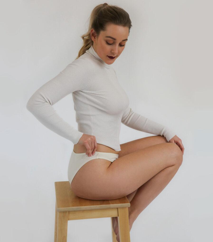 Bavlnené nohavičky bikini - biobavlna