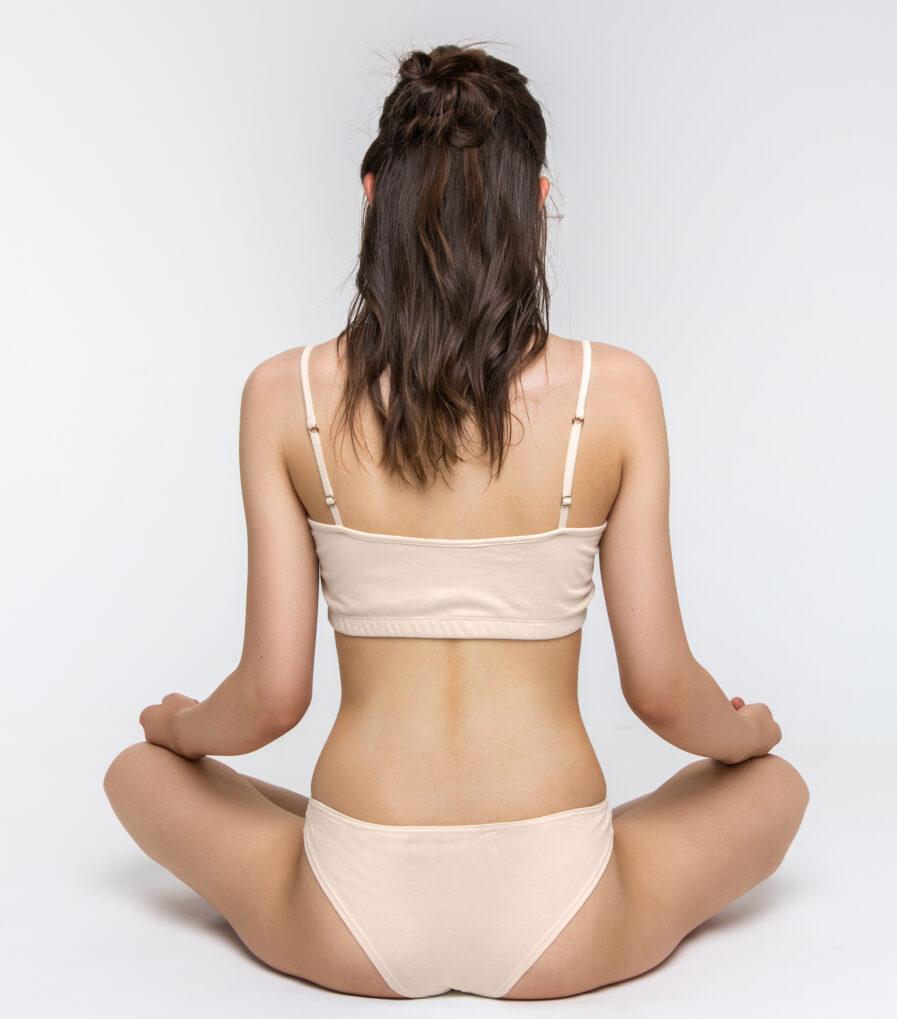 Joga braletka z organickej bavlny - sustainable underwear