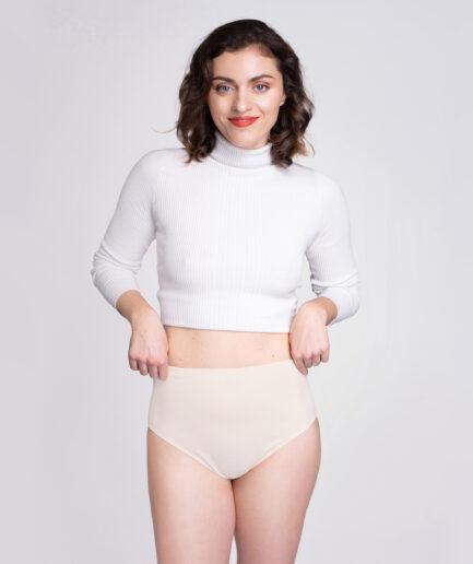 Pohodlné nohavičky s vysokým pásom z organickej bavlny