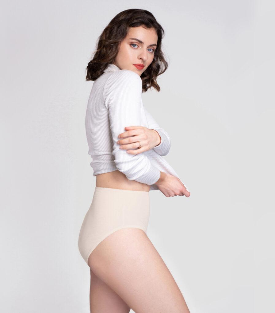Pohodlné bavlnené nohavičky s vysokým pásom z organickej bavlny
