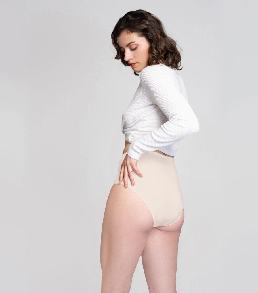 Bavlnené nohavičky s vysokým pásom z organickej bavlny