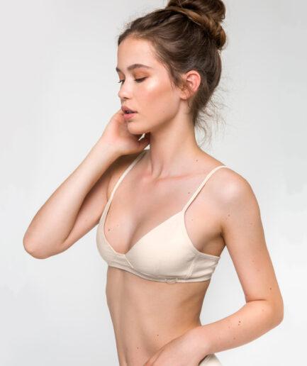 Bavlnená podprsenka pre citlivú pokožku